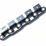Roller chain with attachment